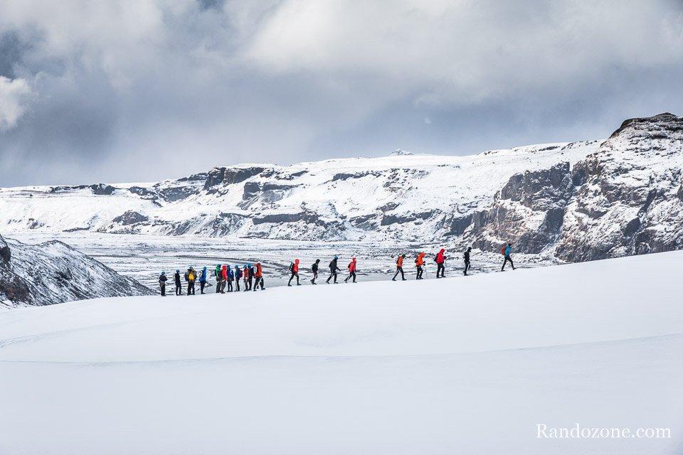Randonnée en Islande sur le glacier de Sólheimajökull