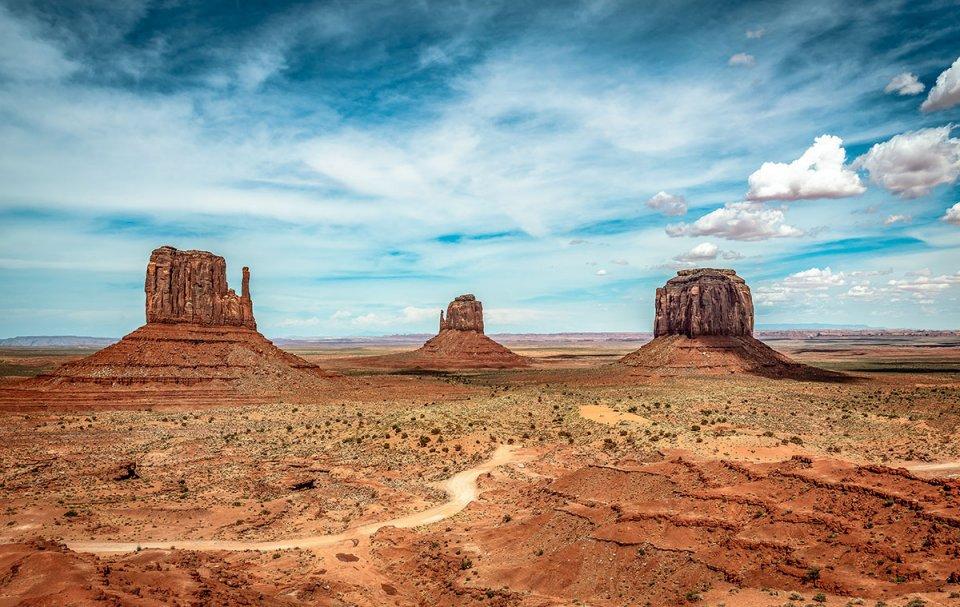 Célèbre vue de Monument Valley aux Etats-Unis