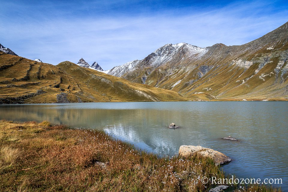 Lac du Goléon et linaigrettes